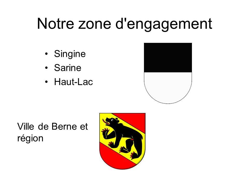 Notre zone d engagement Singine Sarine Haut-Lac Ville de Berne et région