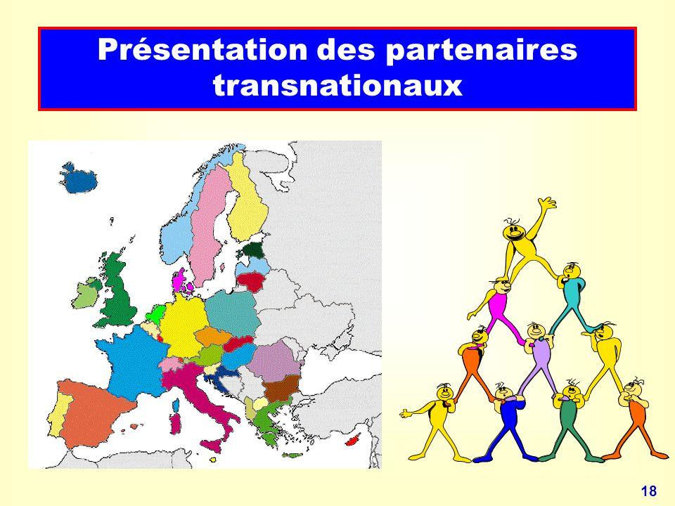 18 Présentation des partenaires transnationaux