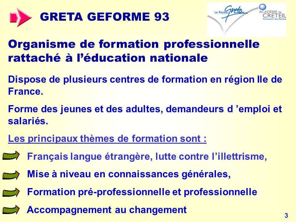 34 ZOOM sur le projet français Les réalisations en cours à destination des APPRENANTS
