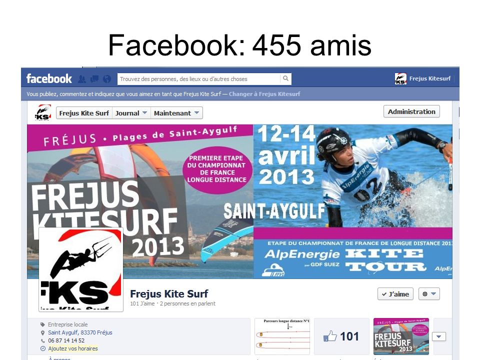 Facebook: 455 amis
