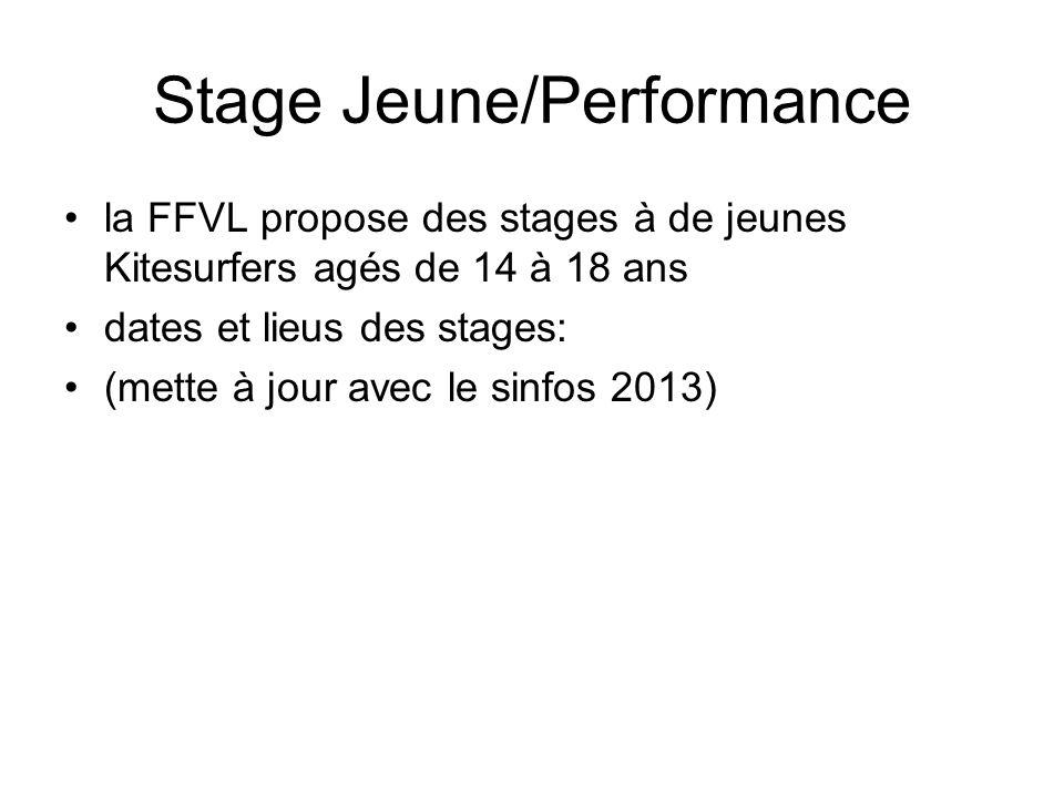 Stage Jeune/Performance la FFVL propose des stages à de jeunes Kitesurfers agés de 14 à 18 ans dates et lieus des stages: (mette à jour avec le sinfos