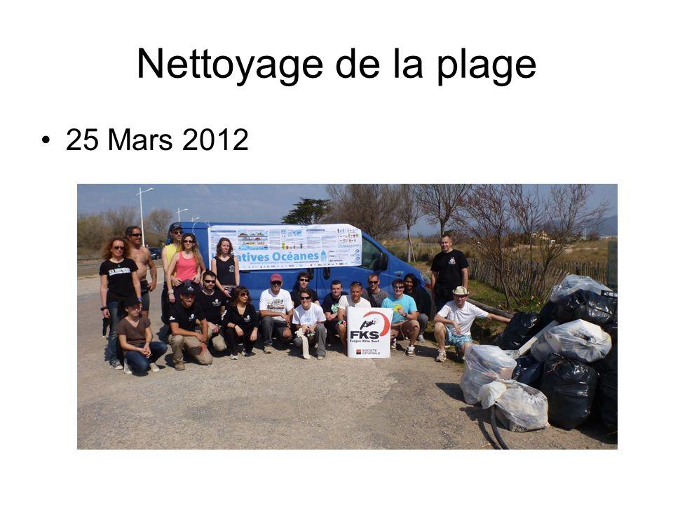 Nettoyage de la plage 25 Mars 2012