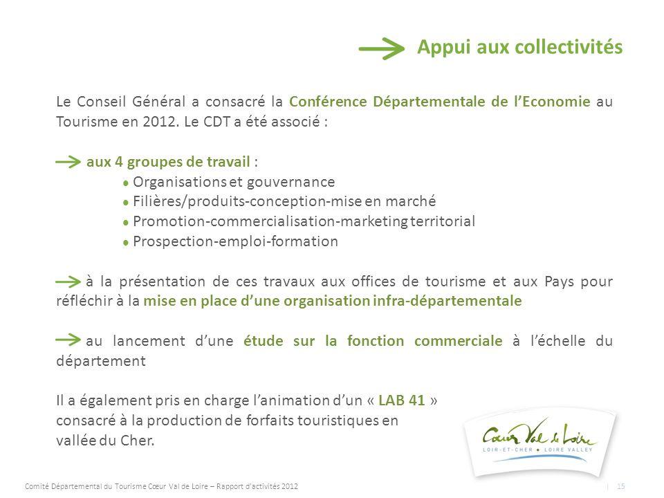 Appui aux collectivités Le Conseil Général a consacré la Conférence Départementale de lEconomie au Tourisme en 2012.