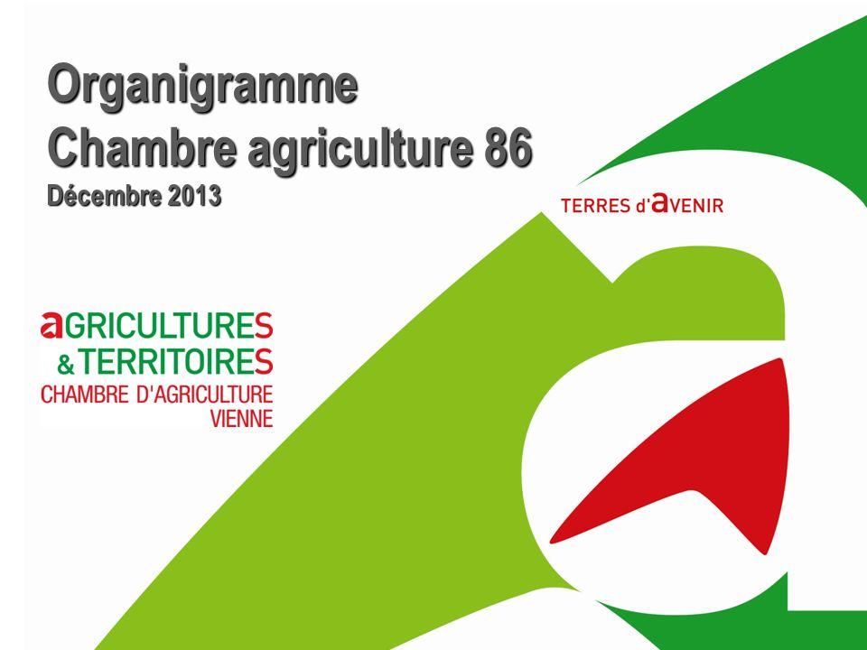 Organigramme Chambre agriculture 86 Décembre 2013