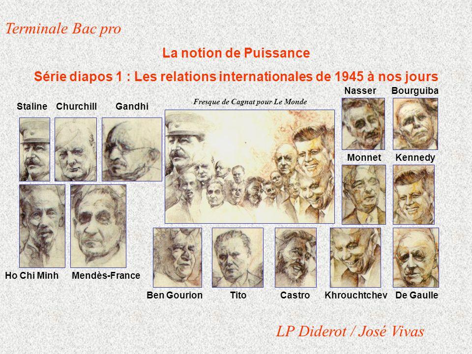 Terminale Bac pro La notion de Puissance Série diapos 1 : Les relations internationales de 1945 à nos jours LP Diderot / José Vivas Fresque de Cagnat