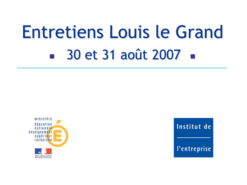 Entretiens Louis le Grand 2007Entretiens Louis le Grand – 30 et 31 août 2007 22 Limpact dune augmentation de capital de 1 Md est marginalement dilutive comparée aux autres solutions Evolution BNPA (Likely Scenario – in )