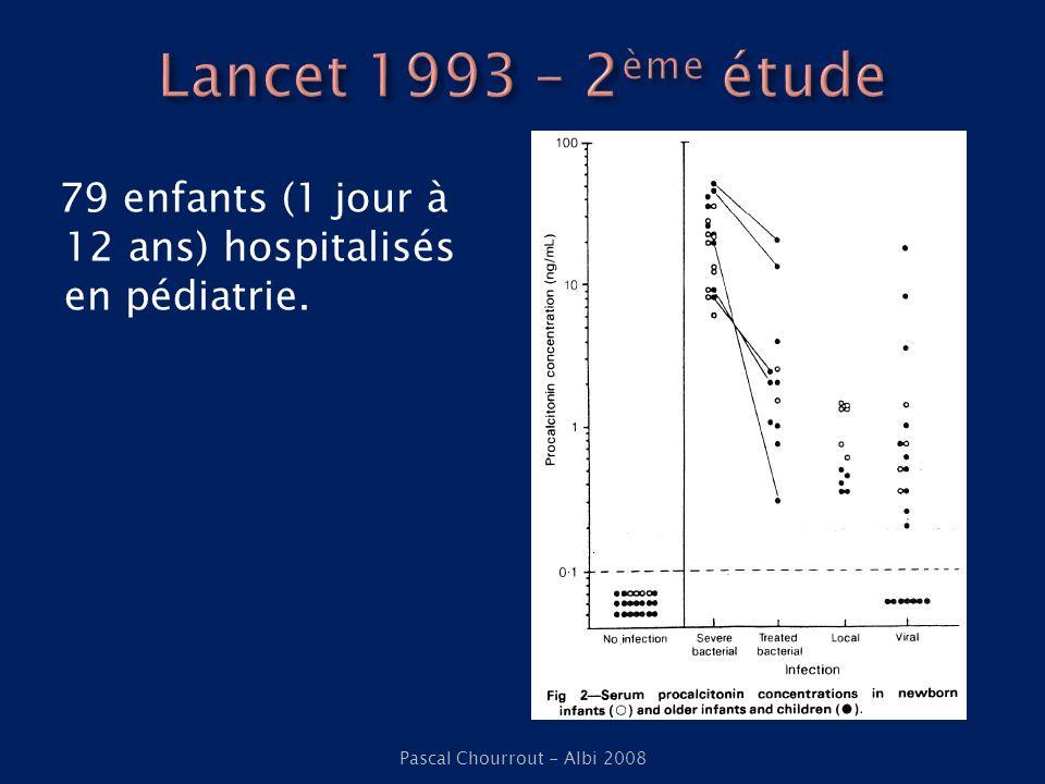 Dandona et al (1994) Volontaires sains LPS Pascal Chourrout - Albi 2008 Brunkhorst et al (1998) Iatrogène Acineto baumanii
