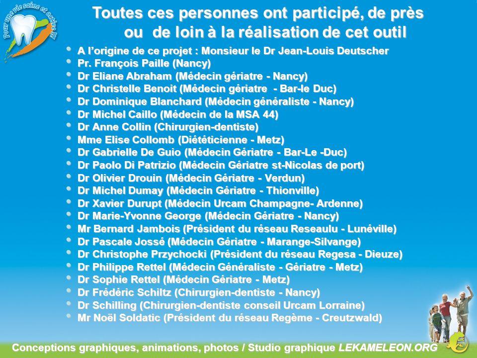 A lorigine de ce projet : Monsieur le Dr Jean-Louis Deutscher A lorigine de ce projet : Monsieur le Dr Jean-Louis Deutscher Pr. François Paille (Nancy