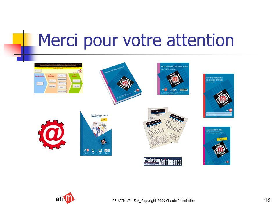 05-AFIM-VS-15-A_Copyright 2009 Claude Pichot Afim 48 Merci pour votre attention