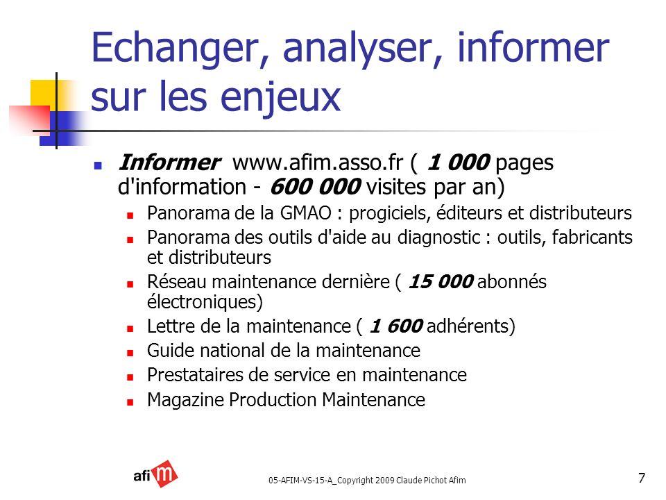 05-AFIM-VS-15-A_Copyright 2009 Claude Pichot Afim 7 Echanger, analyser, informer sur les enjeux Informer www.afim.asso.fr ( 1 000 pages d'information