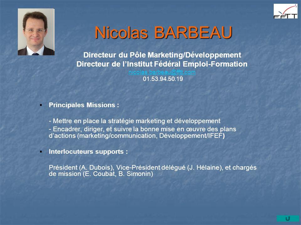 Principales Missions : - Mettre en place la stratégie marketing et développement - Encadrer, diriger, et suivre la bonne mise en œuvre des plans dacti