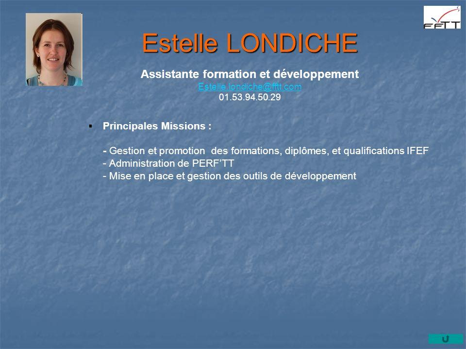 Principales Missions : - Gestion et promotion des formations, diplômes, et qualifications IFEF - Administration de PERFTT - Mise en place et gestion d