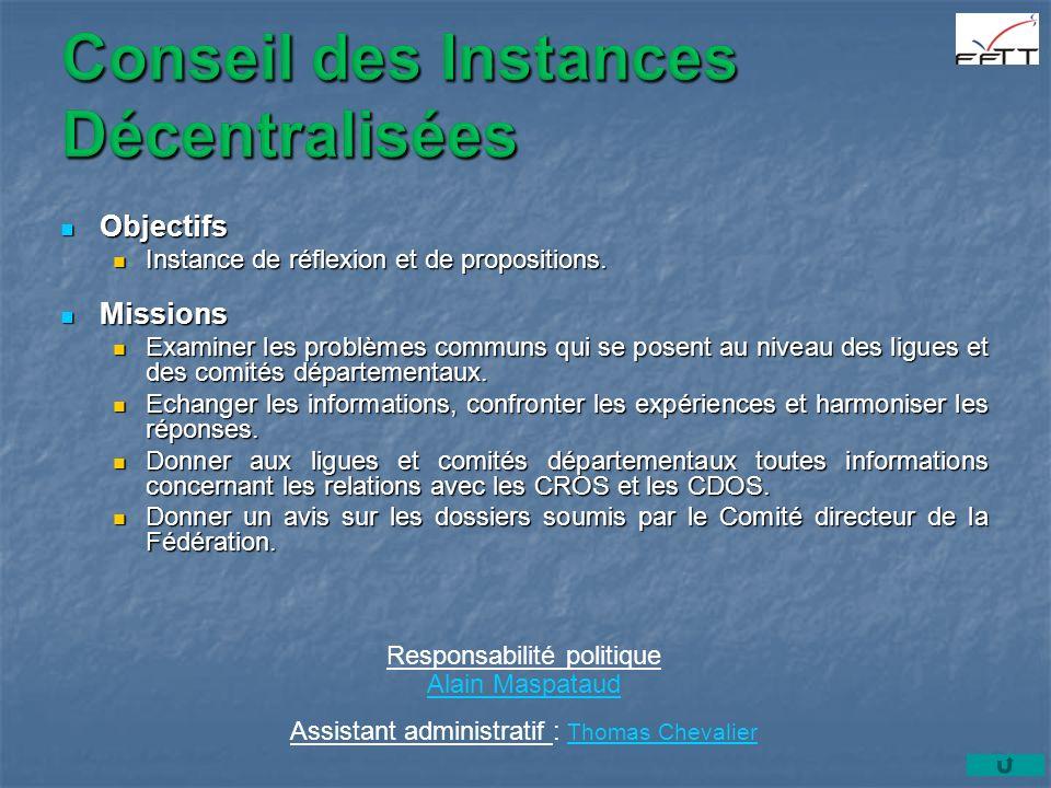 Objectifs Objectifs Instance de réflexion et de propositions.