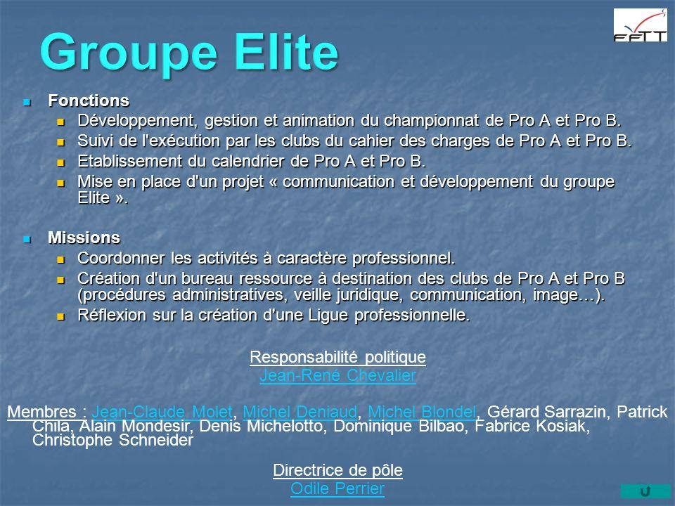 Fonctions Fonctions Développement, gestion et animation du championnat de Pro A et Pro B.