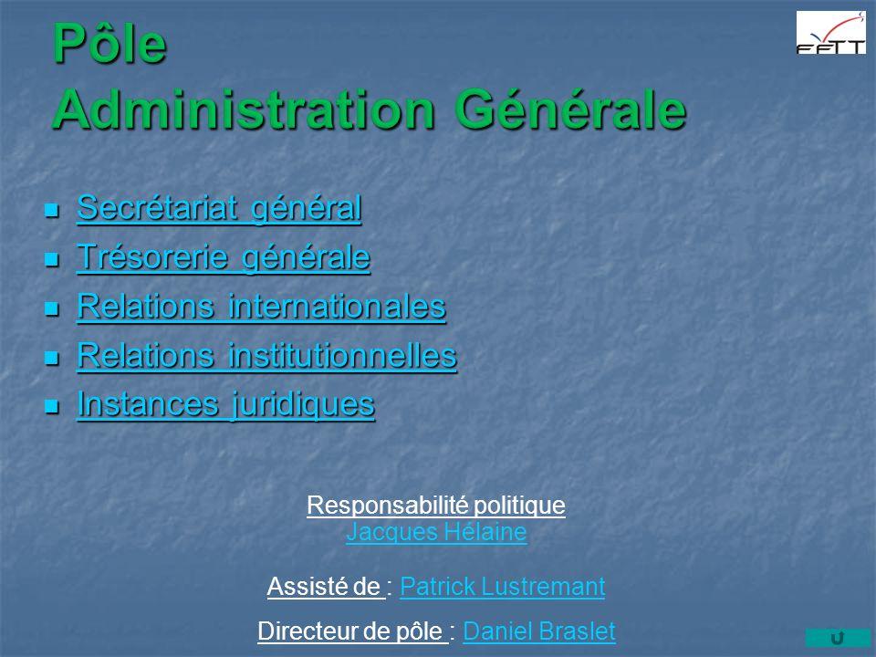 Secrétaire général Secrétaire général Il est chargé, sous lautorité du Président et sous contrôle du Comité directeur et du Bureau fédéral, de ladministration de la Fédération.