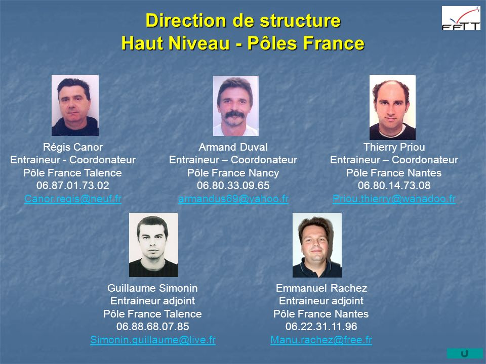 Direction de structure Haut Niveau - Pôles France Régis Canor Entraineur - Coordonateur Pôle France Talence 06.87.01.73.02 Canor.regis@neuf.fr Armand