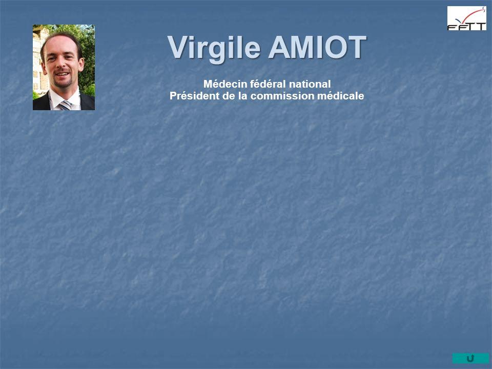 Virgile AMIOT Médecin fédéral national Président de la commission médicale