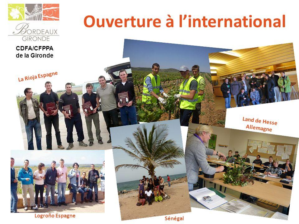 CDFA/CFPPA de la Gironde Ouverture à linternational Logroño Espagne La Rioja Espagne Land de Hesse Allemagne Sénégal