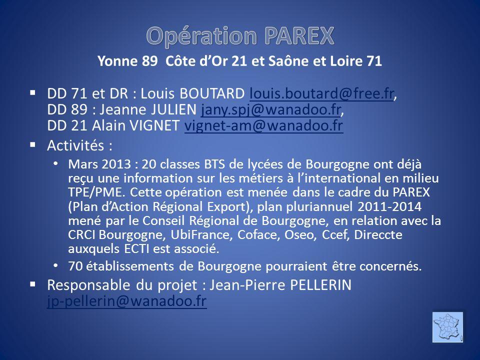 DD 71 et DR : Louis BOUTARD louis.boutard@free.fr, DD 89 : Jeanne JULIEN jany.spj@wanadoo.fr, DD 21 Alain VIGNET vignet-am@wanadoo.frlouis.boutard@fre