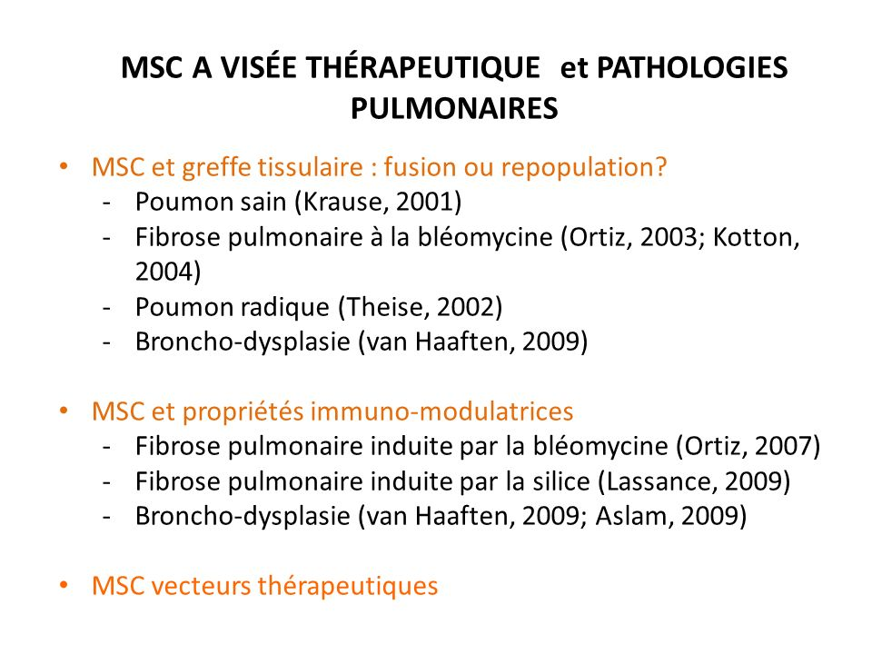 MSC THERAPY MODULATES THE INFLAMMATORY RESPONSE TO VILI. Curley G F et al. Thorax 2012;67:496-501