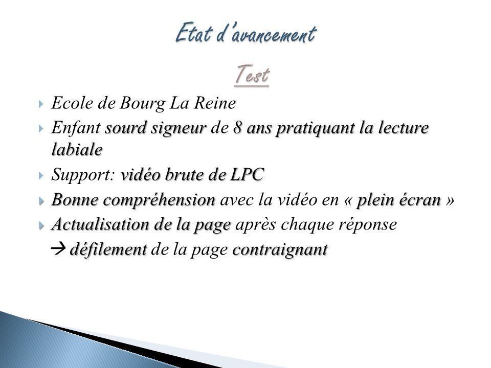 Ecole de Bourg La Reine sourdsigneur 8 ans pratiquant la lecture labiale Enfant sourd signeur de 8 ans pratiquant la lecture labiale vidéo brute de LP