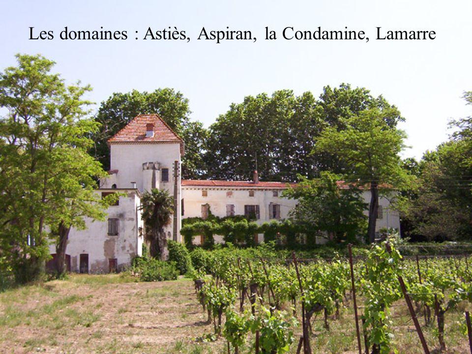 Les domaines : Astiès, Aspiran, la Condamine, Lamarre