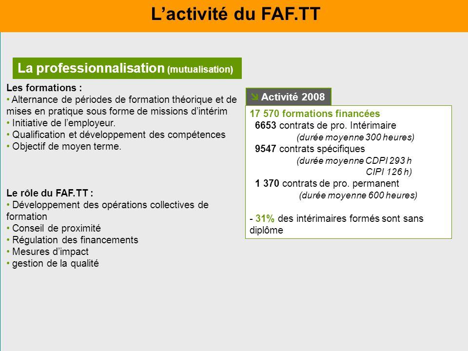 La professionnalisation (mutualisation) Les formations : Alternance de périodes de formation théorique et de mises en pratique sous forme de missions
