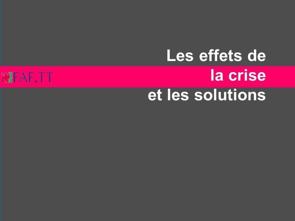 Les effets de la crise et les solutions