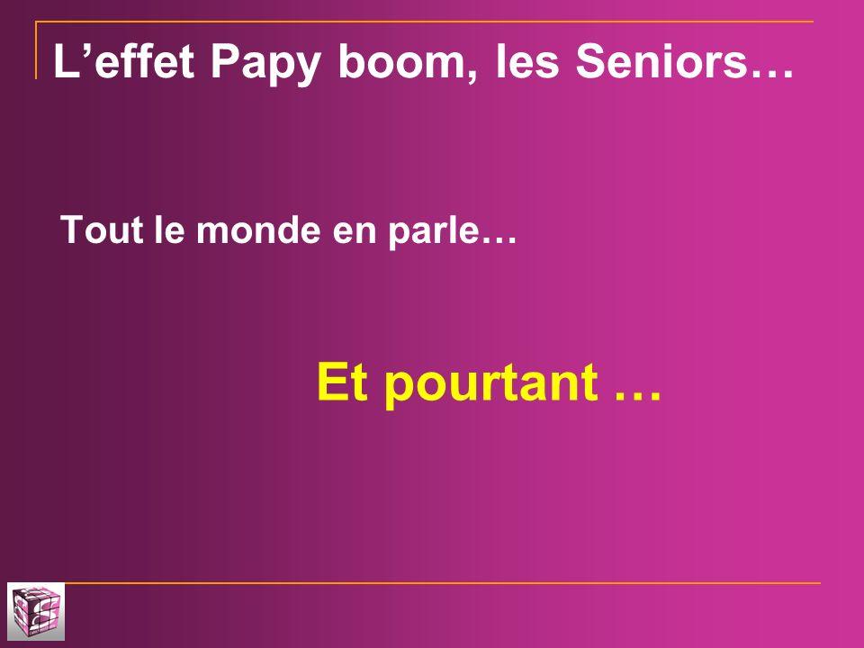 Leffet Papy boom, les Seniors… Tout le monde en parle… Et pourtant …