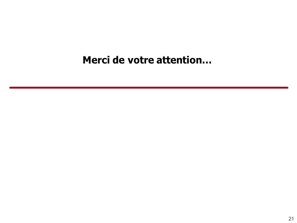 Merci de votre attention… 21
