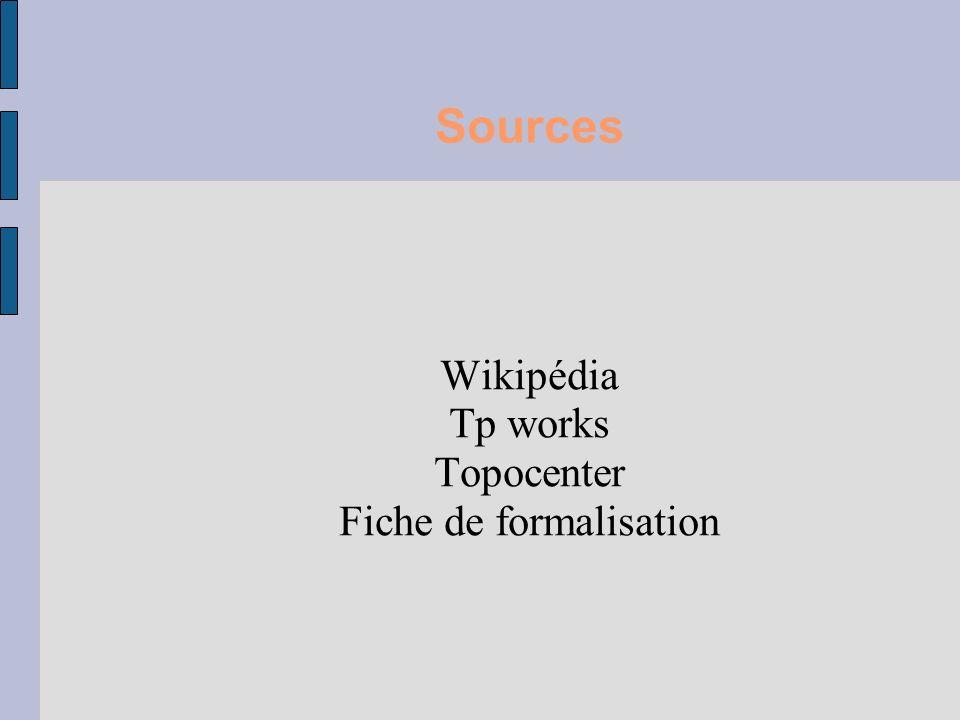 Sources Wikipédia Tp works Topocenter Fiche de formalisation