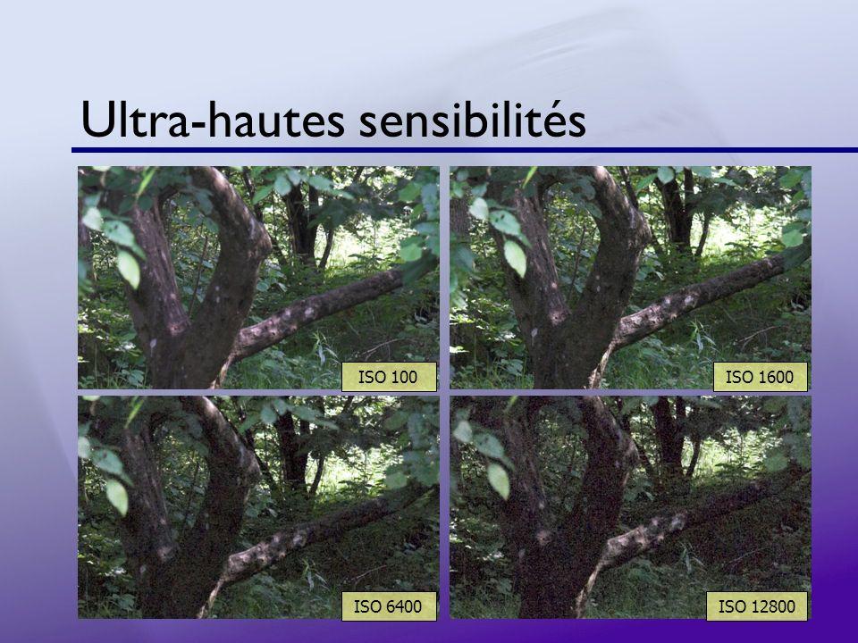 Ultra-hautes sensibilités ISO 100ISO 1600 ISO 6400ISO 12800