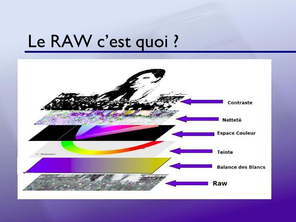 Le RAW cest quoi ?