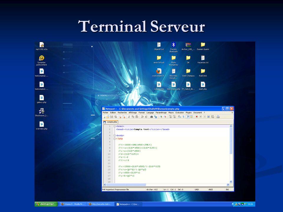 Terminal Serveur