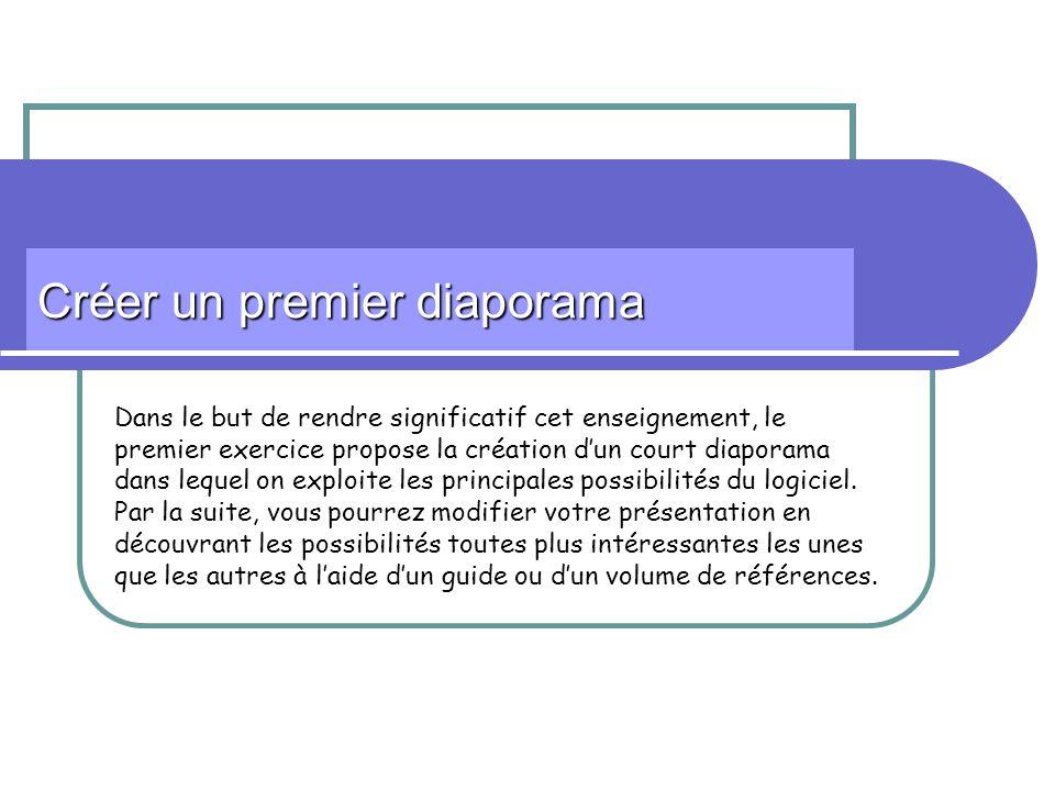 2 Avant de commencer… Ce quil faut savoir Une présentation contient plusieurs diapositives Chaque diapositive peut intégrer des animations différentes