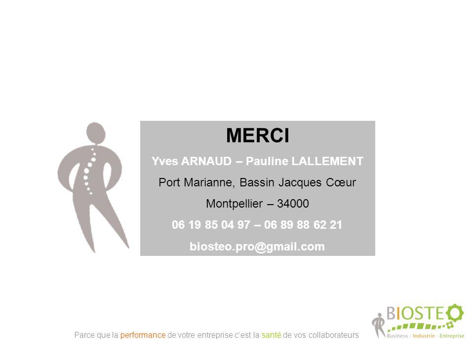 MERCI Yves ARNAUD – Pauline LALLEMENT Port Marianne, Bassin Jacques Cœur Montpellier – 34000 06 19 85 04 97 – 06 89 88 62 21 biosteo.pro@gmail.com Par