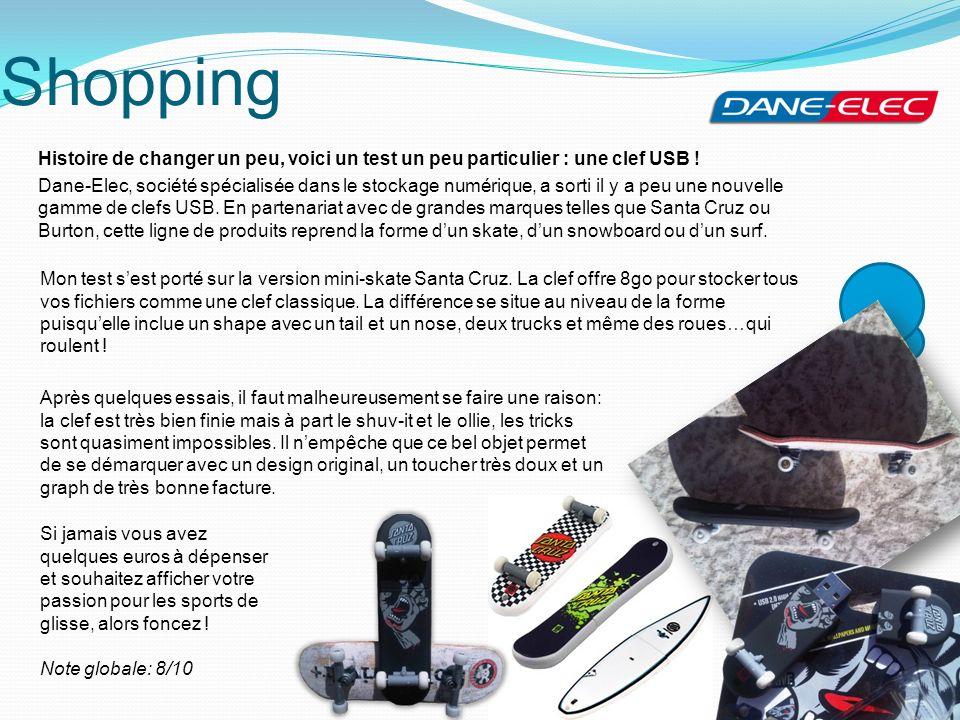 Shopping Histoire de changer un peu, voici un test un peu particulier : une clef USB ! Dane-Elec, société spécialisée dans le stockage numérique, a so
