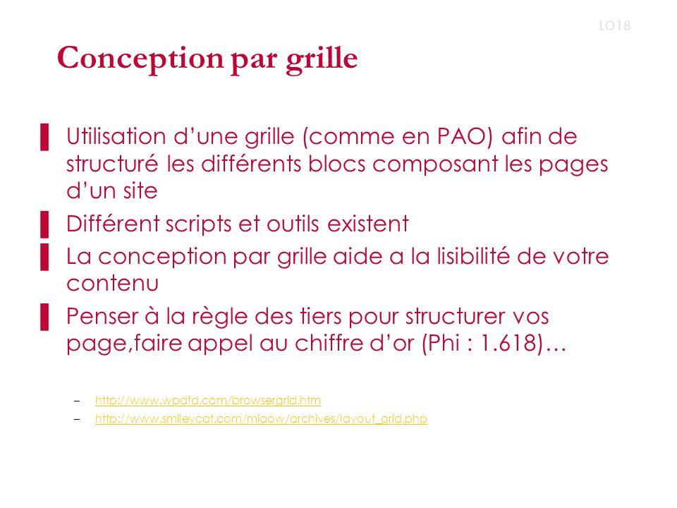 Conception par grille LO18