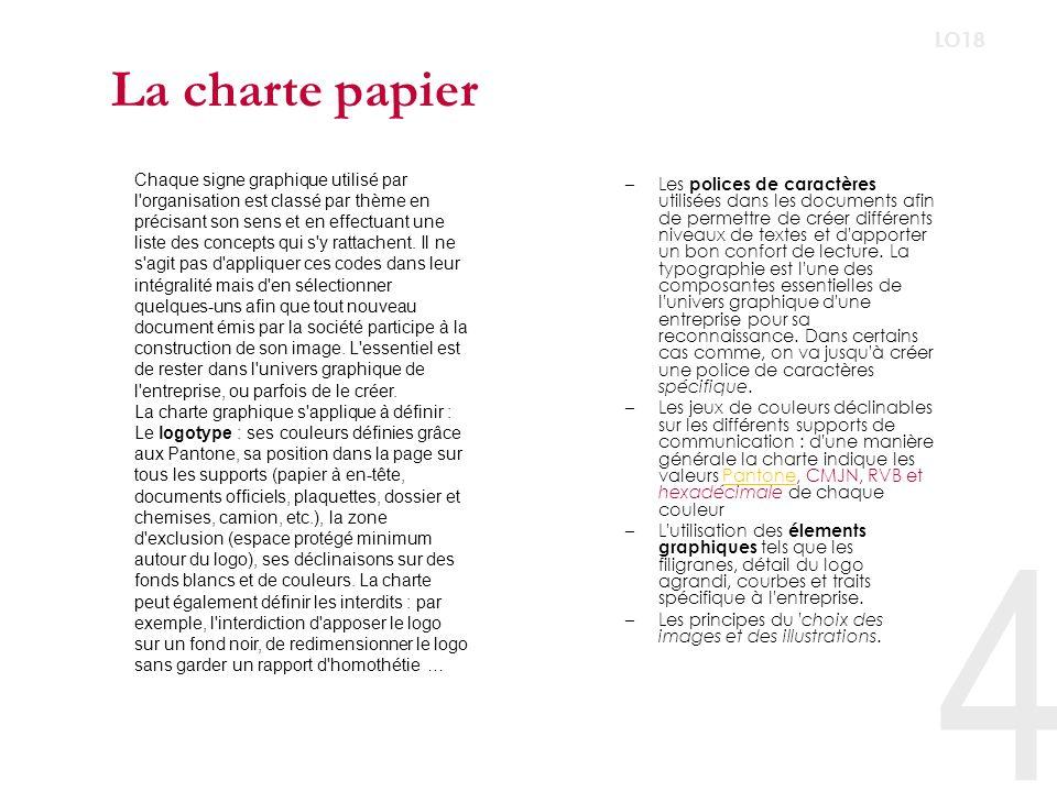 Charte multimédia La charte graphique internet/intranet est un document papier ou un mini-site qui permet de définir la position des différents éléments qui constituent les principales pages d un site avant la programmation de celle-ci.