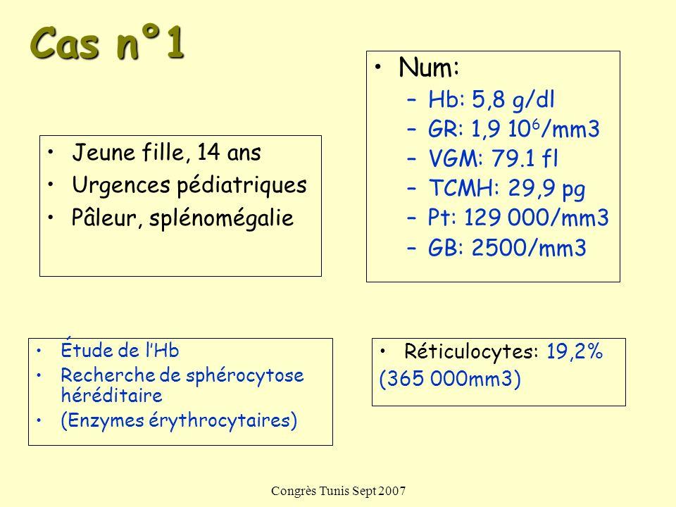 Congrès Tunis Sept 2007 Diagnostic moléculaire Hb A Hb F
