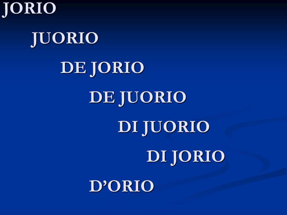 JORIO JUORIO DE JORIO DE JUORIO DI JUORIO DI JORIO DORIO