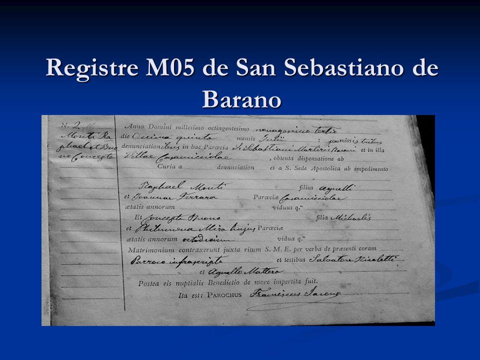 Registre M05 de San Sebastiano de Barano