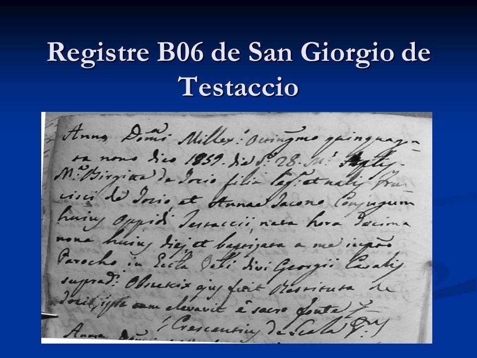 Registre B06 de San Giorgio de Testaccio