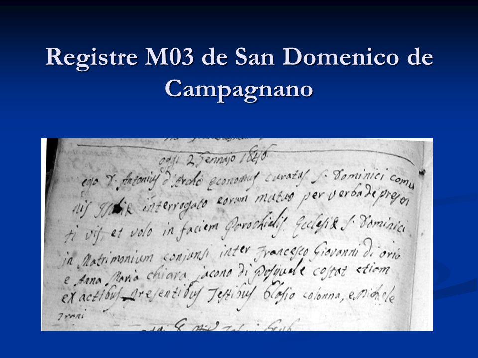 Registre M03 de San Domenico de Campagnano