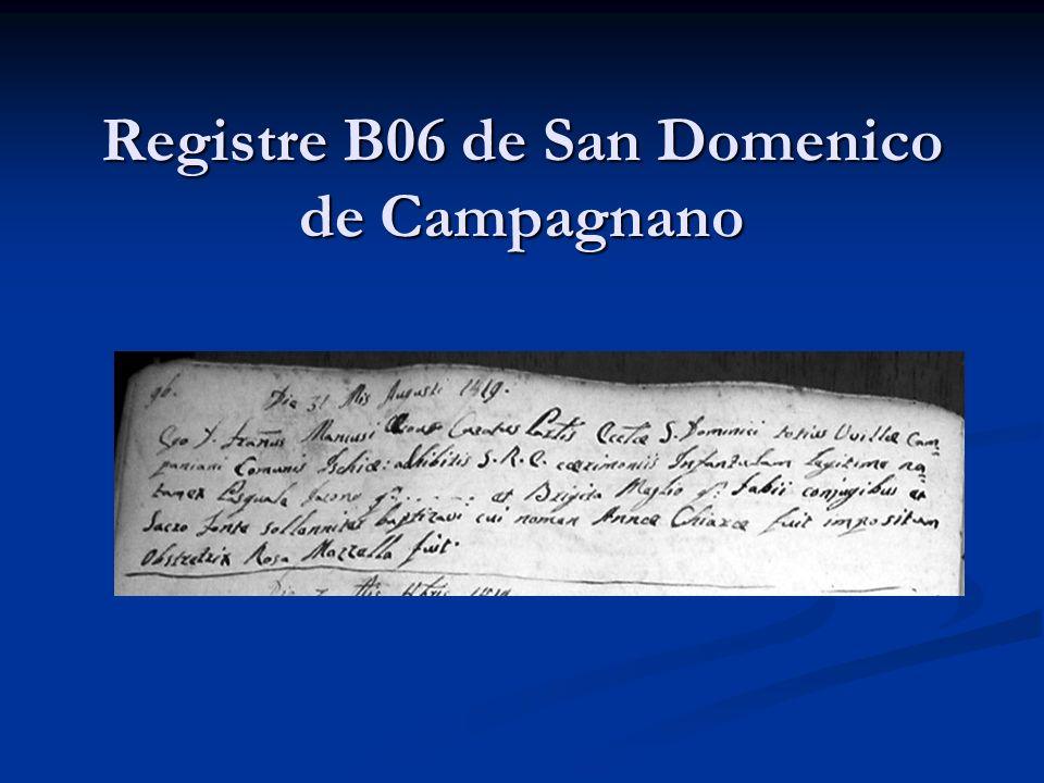 Registre B06 de San Domenico de Campagnano