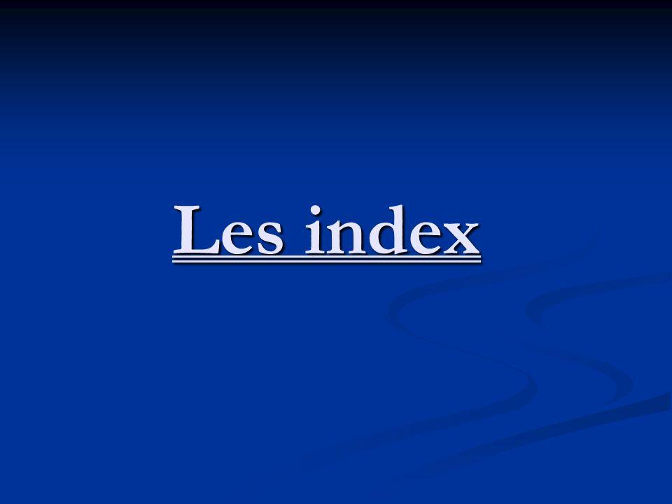 Les index ont été rédigés postérieurement aux actes.