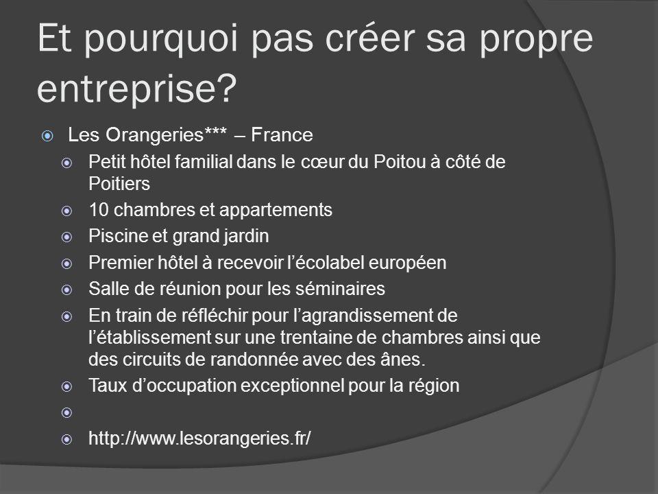 Et pourquoi pas créer sa propre entreprise? Les Orangeries*** – France Petit hôtel familial dans le cœur du Poitou à côté de Poitiers 10 chambres et a