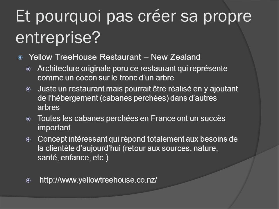 Et pourquoi pas créer sa propre entreprise? Yellow TreeHouse Restaurant – New Zealand Architecture originale poru ce restaurant qui représente comme u