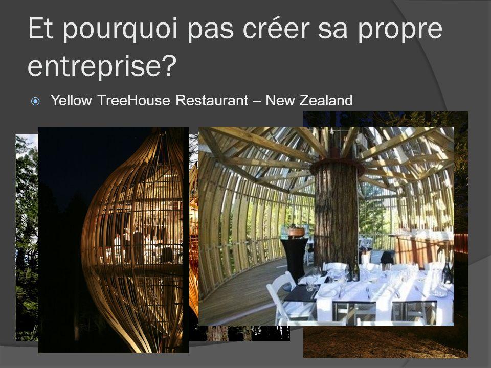 Et pourquoi pas créer sa propre entreprise? Yellow TreeHouse Restaurant – New Zealand