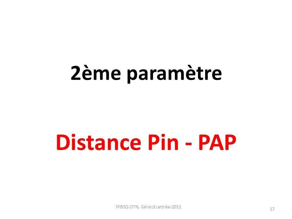 2ème paramètre Distance Pin - PAP 17 FFBSQ-DTN, Gérard Lettrée-2011